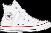 Белые высокие кеды Converse All Star White High (Конверсы) мужские и женские, фото 1
