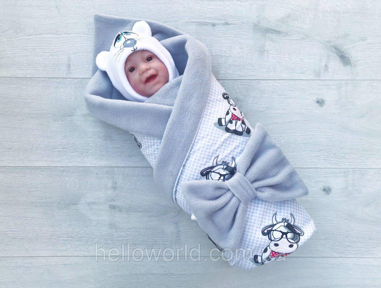 Одеяло-плед , коровка в очках