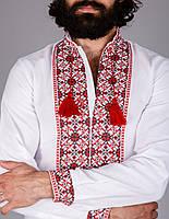 Чоловіча вишита сорочка на домотканому полотні