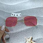 Красные очки в золотой оправе, фото 5