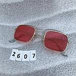 Красные очки в золотой оправе, фото 7