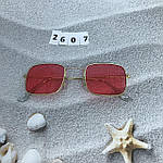 Красные очки в золотой оправе, фото 3