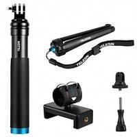 Монопод Telesin для экшн-камер с металлическим штативом и креплением для телефона