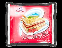 Десерт Balconi Strawberry Cake торт с клубнично-сливочным кремом, 400 г.