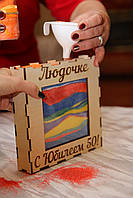 Песочная рамка для церемонии на юбилей 50 лет., фото 1