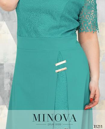 Элегантное платье с двойной юбкой р. 52-58, фото 2