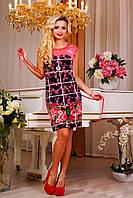 """Женское легкое платье с цветочным принтом """"Клетка"""", фото 1"""