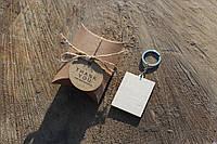 Брелок з фанери у формі Прямокутник з лазерним гравіюванням