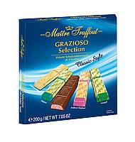Черный и молочный шоколад Grazioso Selection Classic style Maitre Truffout , 200 гр