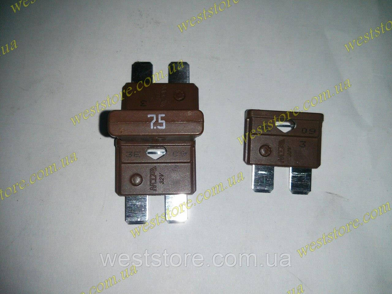 Предохранитель Евро 7.5 А коричневый MTA  Италия