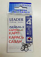 Крючок Leader ISEAMA-X BN №4