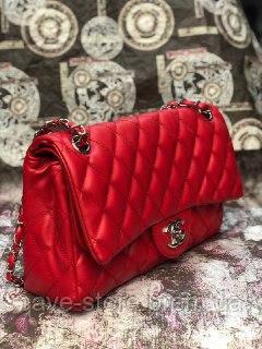 0961533b491e Женская сумка клатч Chanel (Шанель), насыщенный красный цвет - Интернет-магазин