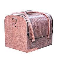 """Нежно-розовая сумка для мастеров """"крокодил"""""""