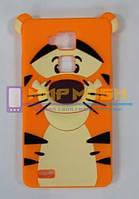 Чехол-бампер силиконовый Huawei Ascend Mate 7 Mate7 Тигр