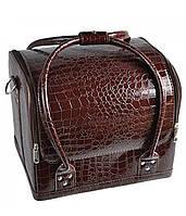 """Коричневая сумка для мастера """"крокодил"""""""