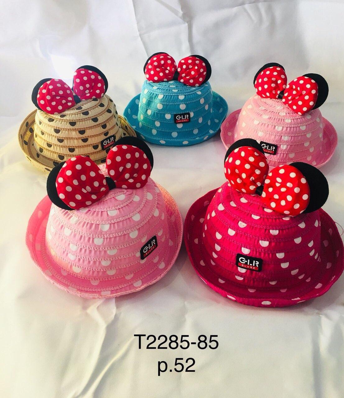Летняя шляпа для девочки с ушками Микки р.52 оптом