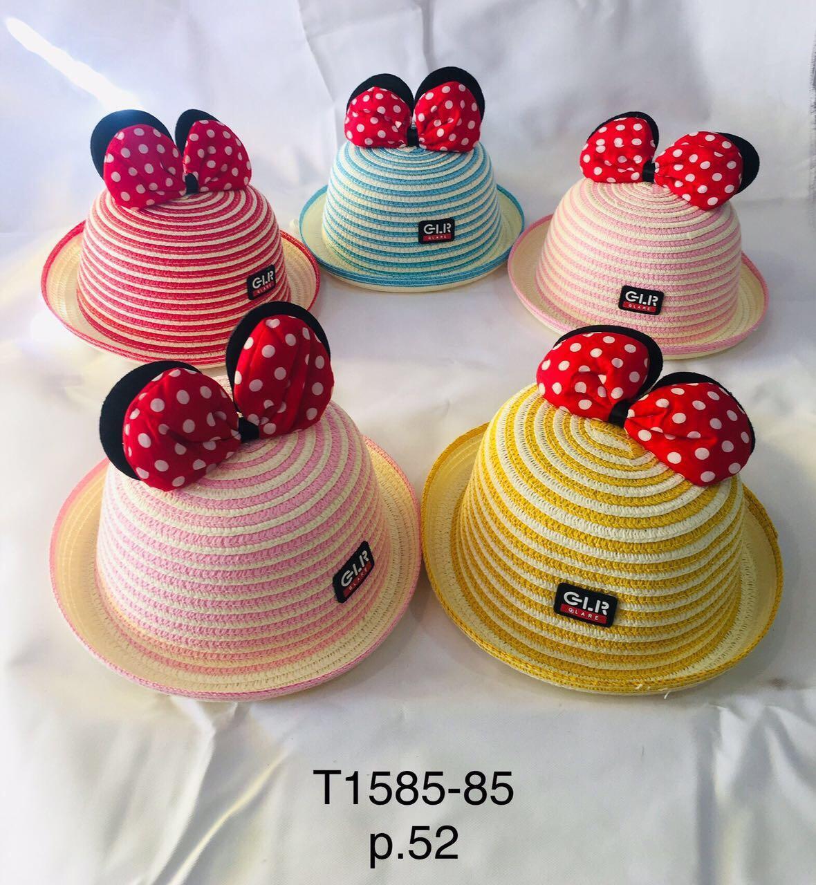 Річна капелюх для дівчинки з вушками Міккі р. 52 оптом