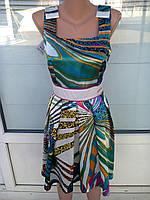Платье атласное цветное нарядное