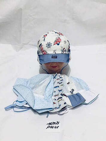 Летняя панамка для мальчика Морская р.46-48, фото 2