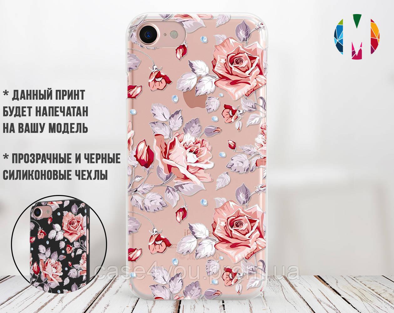 Силиконовый чехол для Samsung J320H Galaxy J3 (2016) Розовые розы (28181-3006)