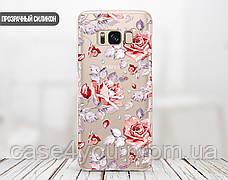 Силиконовый чехол для Samsung J320H Galaxy J3 (2016) Розовые розы (28181-3006), фото 3
