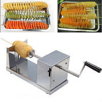 "Слайсер-Овощерезка спиральная для нарезки овощей ""Stainless Steel Potato Slicer""!Лучшая цена"