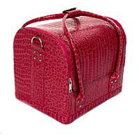 """Малиновая сумка для мастеров """"крокодил"""""""
