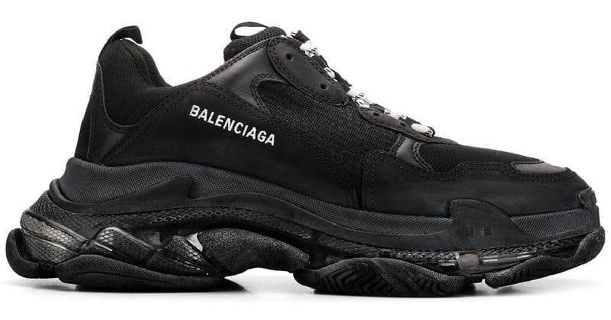 Женские кроссовки Balenciaga Triple S Clear Sole (Premium-class) черные