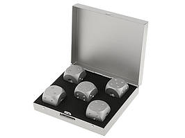 Набор костей Moun 5 шт. из алюминия Квадратная коробка Серебристый