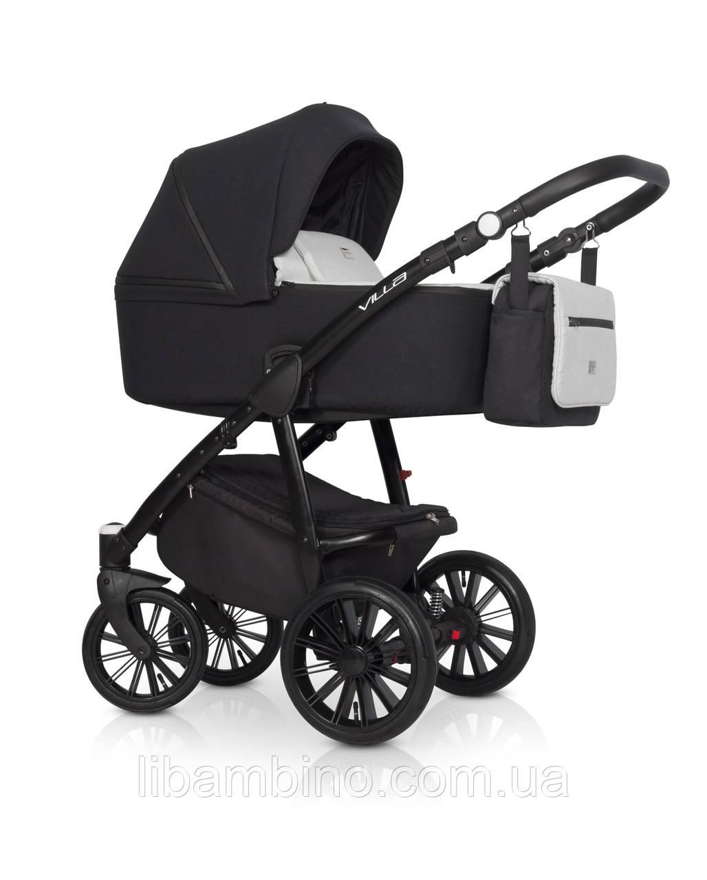 Дитяча універсальна коляска 2 в 1 Riko Villa 02 Platinum