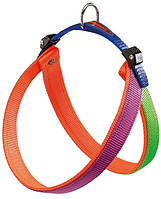 75180239 Ferplast Agila Colours Orange Шлея нейлоновая, 32-50см/20мм