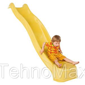 Детская горка пластиковая 3 м (Бельгия) Желтая