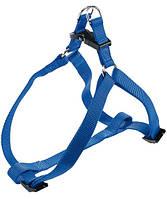 75560925 Ferplast Easy P Blue Шлея нейлоновая, 35-53см/10мм
