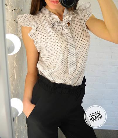 Женская блузка в горошек из софта , фото 2