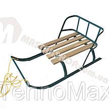 Санки для ребенка с веревкой и складной спинкой, фото 2