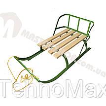 Санки для ребенка с веревкой и складной спинкой, фото 3