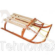 Санки детские с веревкой и откидной спинкой, фото 3