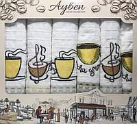 Набор 6 кухонных полотенец Ayben M4826 45х70, вафельные