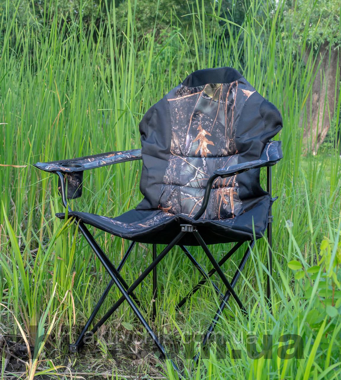 """Кресло раскладное """"Рыбак Люкс Дубки"""" с чехлом для туризма"""