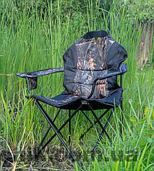 """Крісло розкладне """"Рибак Люкс Дубки"""" з чохлом для туризму"""