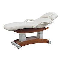 Стационарный массажный стол, кушетка для массажа с функцией подогрева + угол наклона 4 электромотора(8102)