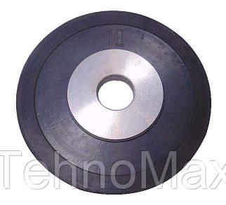 Диск стальной обрезиненный 10 кг