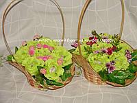 """Букет салатовых роз для учительницы из конфет""""Успех""""№7"""