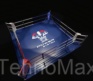 Боксерский ринг напольный, тренировочный 5,5х5,5 метра, ринг для бокса