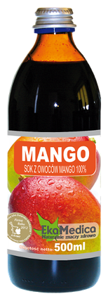 Сок из Манго 100% без консервантов Ekamedica, 500мл, фото 2
