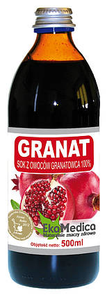 Сок Гранатовый 100% без консервантов Ekamedica, 500мл, фото 2