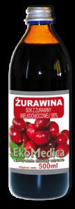Клюквенный сок Ekamedica, 500 мл