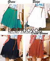Шифоновая короткая юбка.Яркие цвета