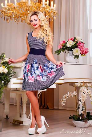 Красивое летнее платье с цветочным рисунком