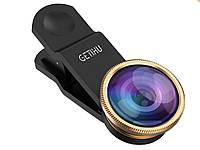 Набір з 3 лінз GETIHU для смартфонів Fisheye Lens Wide Lens і Marco Lens  Золотий